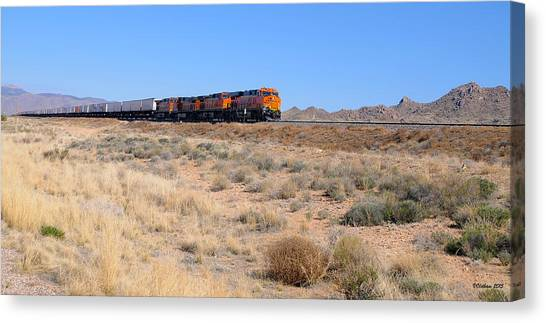 Route 66 Freight Train Canvas Print