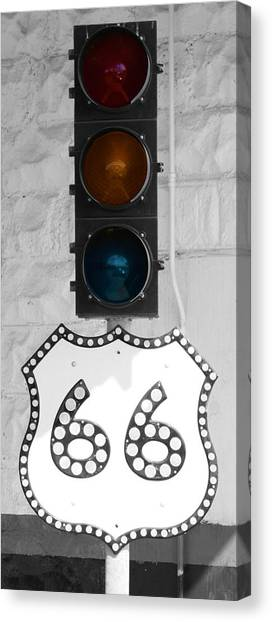 Route 66 Canvas Print by Karen Scovill