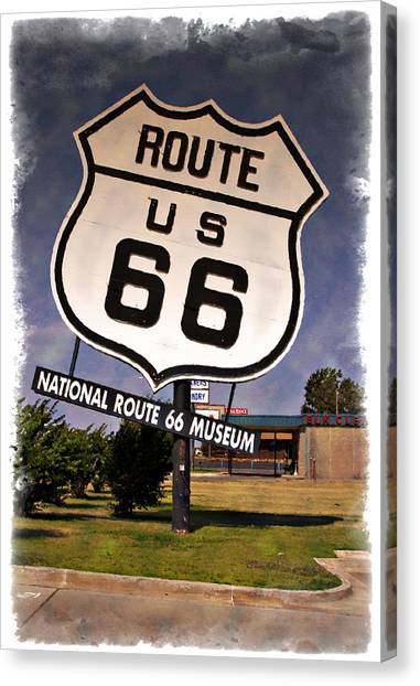 Historic Route 66 Canvas Print - Route 66 Museum - Impressions by Ricky Barnard