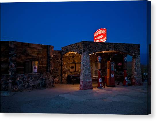 Historic Route 66 Canvas Print - Route 66 Outpost Arizona by Steve Gadomski