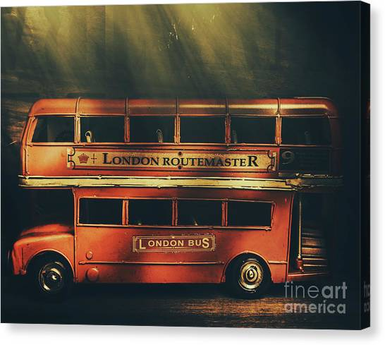 Old Masters Canvas Print - Routemaster Bus Station by Jorgo Photography - Wall Art Gallery