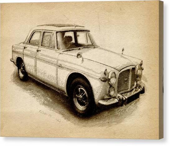 Classic Cars Canvas Print - Rover P5 1968 by Michael Tompsett