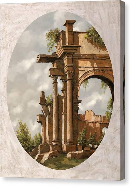 Roman Art Canvas Print - Rovine Romane by Guido Borelli