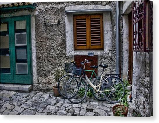Rovinj Bicycles Canvas Print