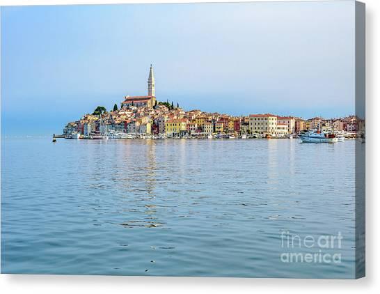 Rovinj In The Early Morning Fog, Istria, Croatia Canvas Print