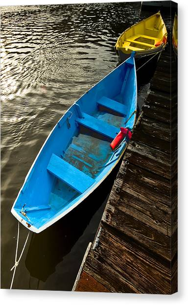 Row Boats Canvas Print by Dale Stillman