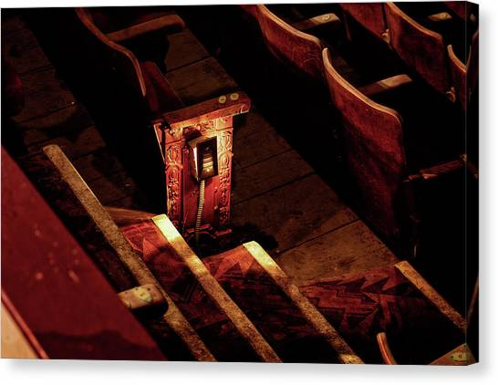 Row D, Seat 15 Canvas Print by John Hoey