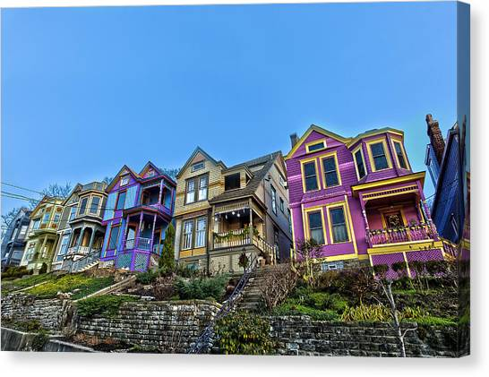 Row Houses Canvas Print