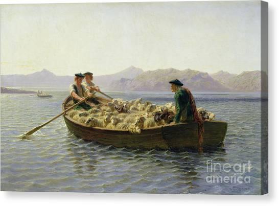 Rowboat Canvas Print - Rowing Boat by Rosa Bonheur