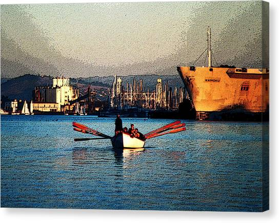 Rowing On The Estuary Canvas Print