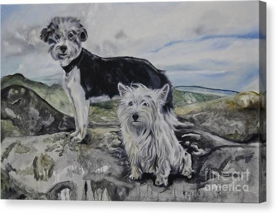 Roxie And Skye Canvas Print