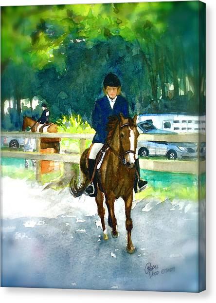 Roxy And Prissy Canvas Print by Cheryl Dodd