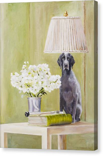 Roxy Being Bad Canvas Print by Denise H Cooperman