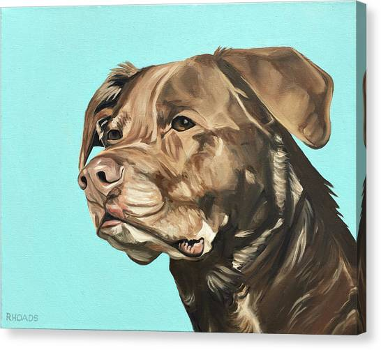 Canvas Print featuring the painting Roxy by Nathan Rhoads