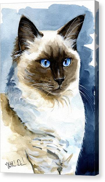 Roxy - Ragdoll Cat Portrait Canvas Print