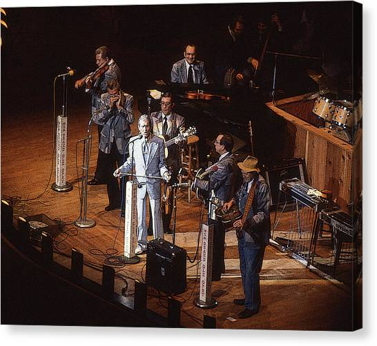 Roy Acuff At The Grand Ole Opry Canvas Print