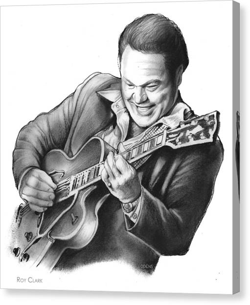 Banjos Canvas Print - Roy Clark by Greg Joens