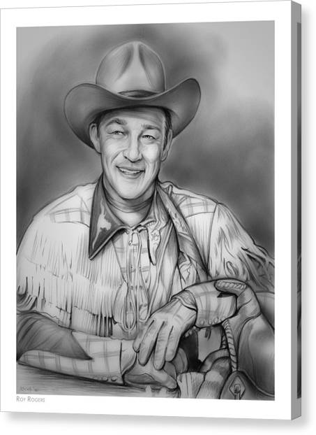 American Cowboy Canvas Print - Roy Rogers by Greg Joens