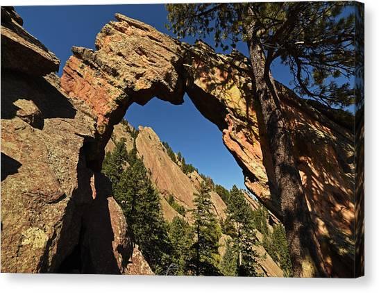 Royal Arch Trail Arch Boulder Colorado Canvas Print