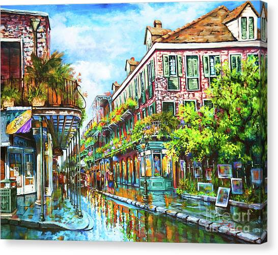 Louisiana Canvas Print - Royal At Pere Antoine Alley, New Orleans French Quarter by Dianne Parks