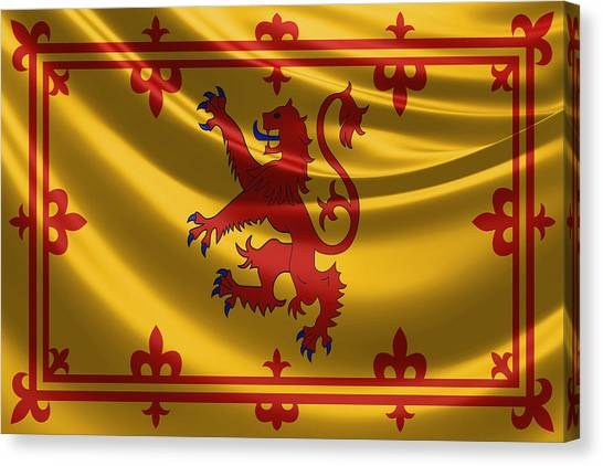 Royal Banner Of The Royal Arms Of Scotland Canvas Print