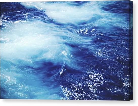 Ocean Life Canvas Print - Royal Blue by Clem Onojeghuo