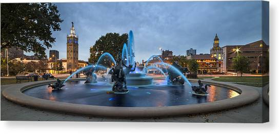 Royal Blue Fountain Canvas Print