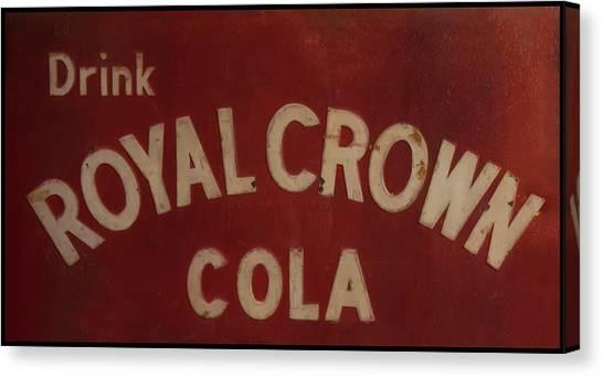 Canvas Print featuring the photograph Royal Crown Cola Sign by Chris Flees