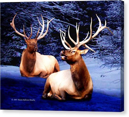 Royal Elk Canvas Print by Dianne Roberson