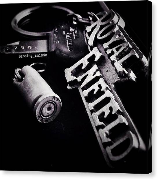 Trucks Canvas Print - Royal Enfield : Bullet  My Bike Key by Indian Truck Driver