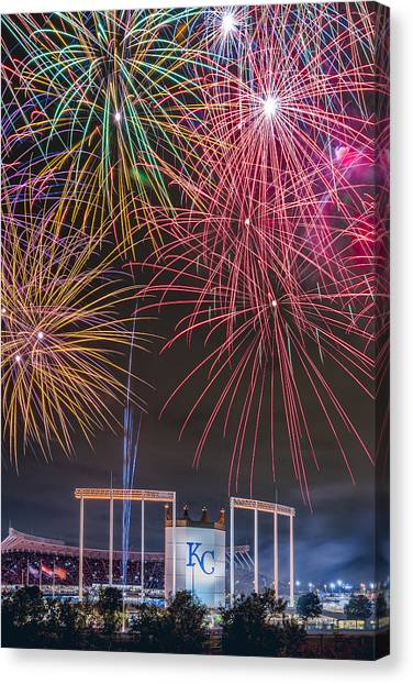 Royal Fireworks Canvas Print
