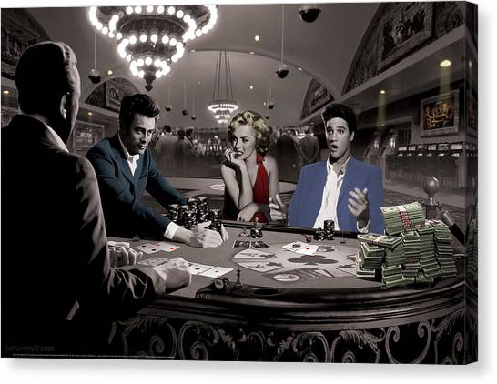 James Dean Canvas Print - Royal Flush by Chris Consani