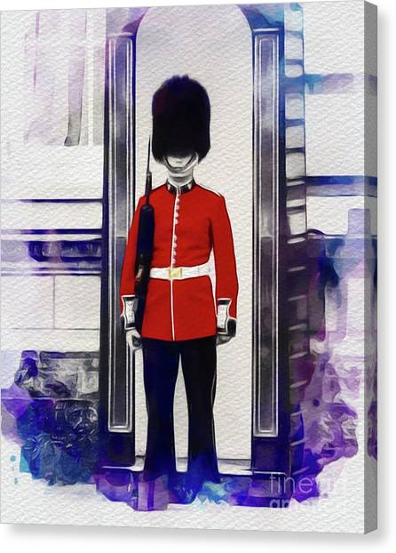 Royal Guard Canvas Print - Royal Guard, London by John Springfield