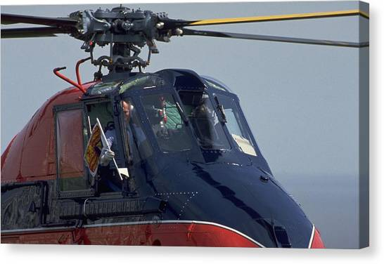 Michel Guntern Canvas Print - Royal Helicopter by Travel Pics