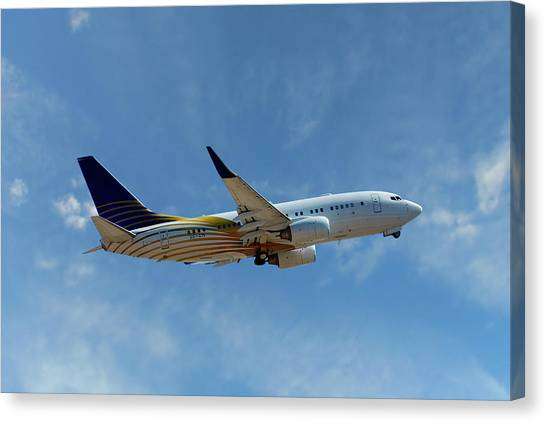 Aircraft Canvas Print - Royal Jet Boeing 737-7z5 by Smart Aviation