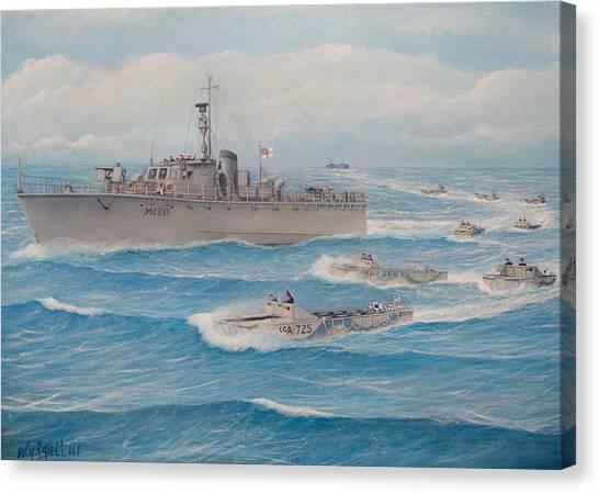Royal Marines Canvas Print - Royal Marine Flotilla 25 Malaya 1945 by William H RaVell III