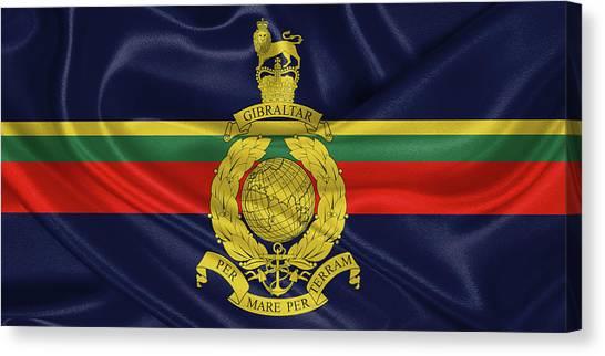 Royal Marines Canvas Print - Royal Marines -  R M  Flag by Serge Averbukh