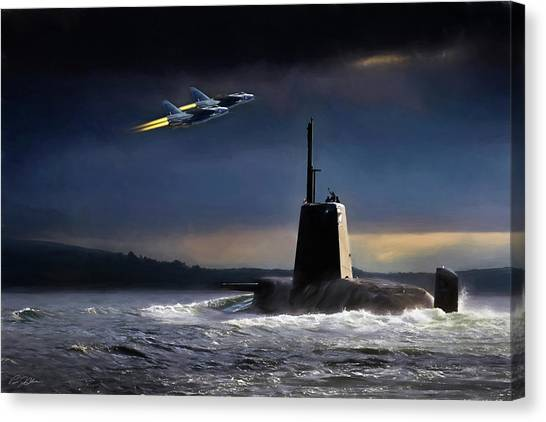 Royal Marines Canvas Print - Royal Nights by Peter Chilelli