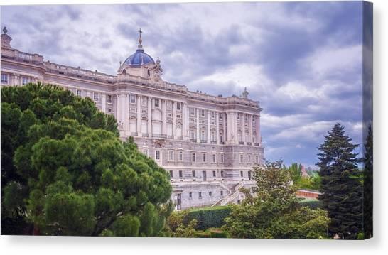Real Madrid Canvas Print - Royal Palace Madrid by Joan Carroll
