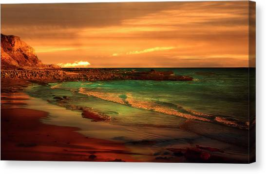 Royal Palms Beach At White Point Canvas Print