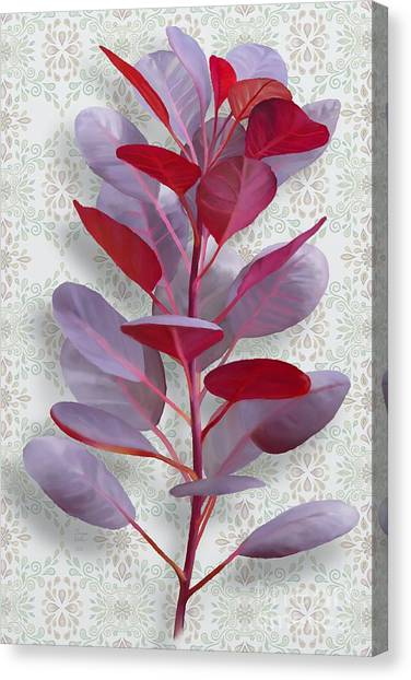Canvas Print featuring the painting Royal Purple by Ivana Westin
