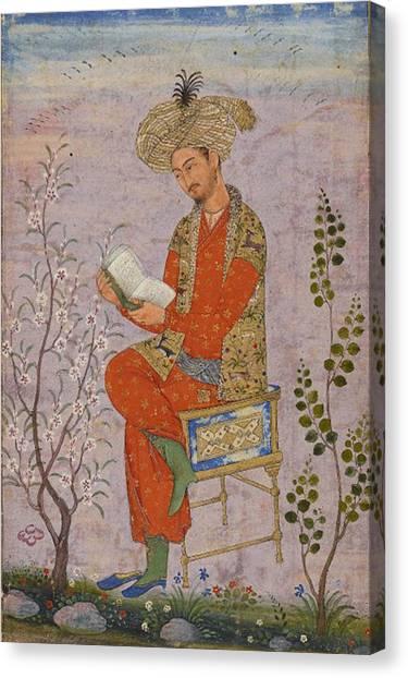 Royal Reader Canvas Print