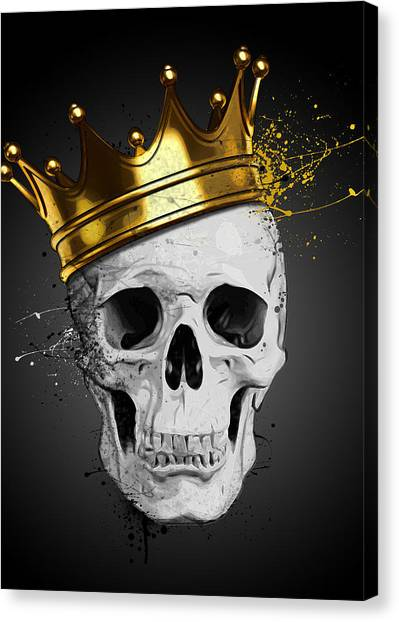 Death Canvas Print - Royal Skull by Nicklas Gustafsson