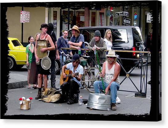 Royal Street Musicians Canvas Print by Linda Kish