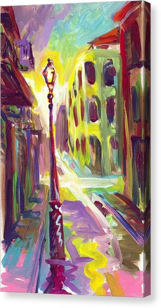 Royal Street New Orleans Canvas Print by Saundra Bolen Samuel