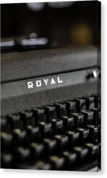 Royal Typewriter #19 Canvas Print