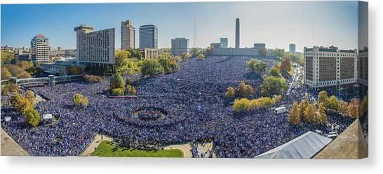 Kansas City Royals Canvas Print - Royals World Series Rally Crowd by Roy Inman