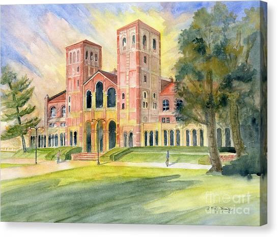 Ucla Canvas Print - Royce Hall Ucla by Melly Terpening