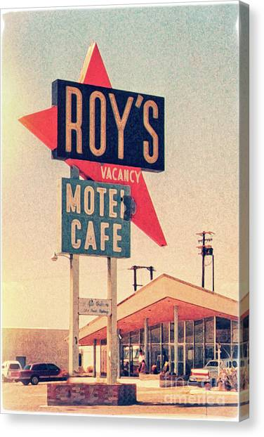 Roy's Motel Canvas Print by Delphimages Photo Creations