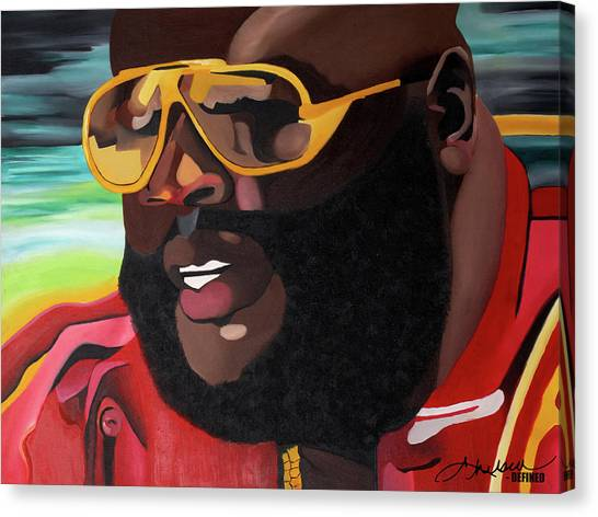 Hip Hop Canvas Print - Rozay by Chelsea VanHook